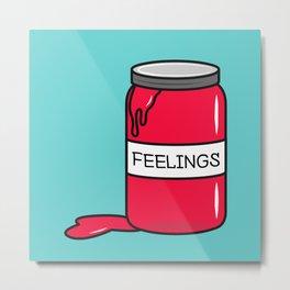 Feelings in a Jar Metal Print