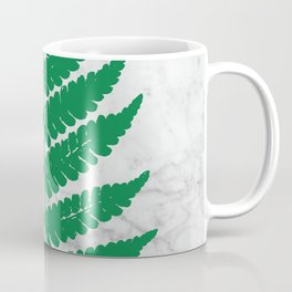 Natural Outlines - Fern Green & White Marble #689 Coffee Mug