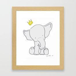King Elephant Framed Art Print