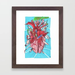 It's a heART problem Framed Art Print