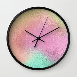 Simply Metallic in Iridescent Rainbow Wall Clock
