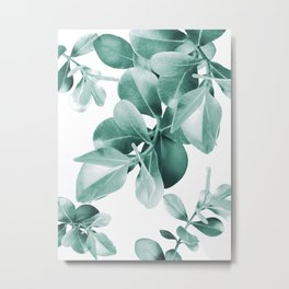 Ficus Leaves Dream #1 #green #decor #art #society6 Metal Print