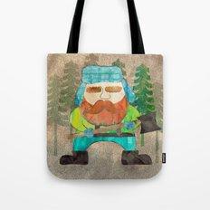 Lumberjack Attack, Modern Mr. Lumberjack Tote Bag