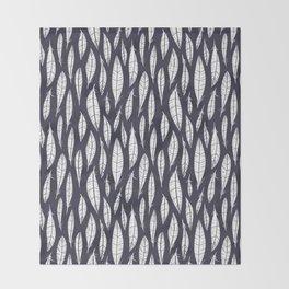 Quail Feathers (Midnight) Throw Blanket