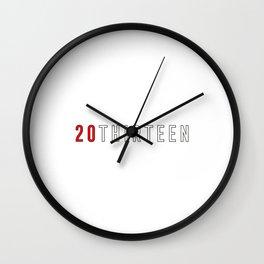 2013 - TYPO Wall Clock