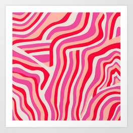 pink zebra stripes Art Print