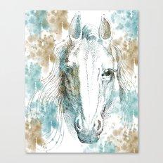Watercolor Horse Canvas Print