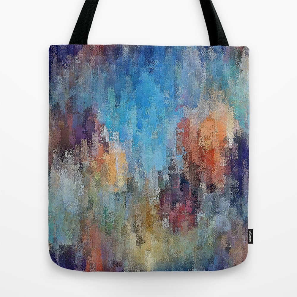 Life Is A Box Of Crayons (transitioning To Heaven'… Tote Bag by Fringemanabstracts TBG8867547