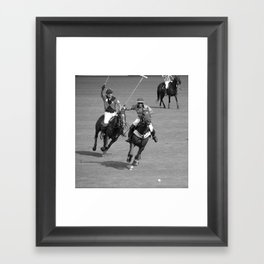 polo argentina Framed Art Print