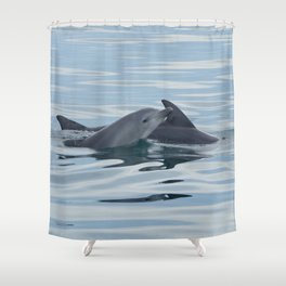 Baby Bottlenose Dolphin Shower Curtain