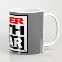 sith Mugs featuring Vader Sith Wear (white) by Ant Atomic