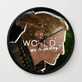 A World Worth Saving Wall Clock