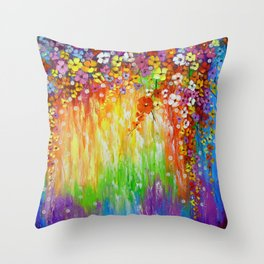 Melody of colors Throw Pillow
