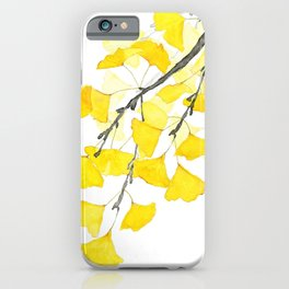 Golden Ginkgo Leaves iPhone Case