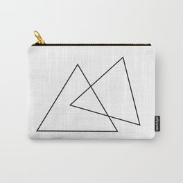 Double Triangles Carry-All Pouch
