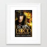 robin hood Framed Art Prints featuring Robin Hood by amanet17