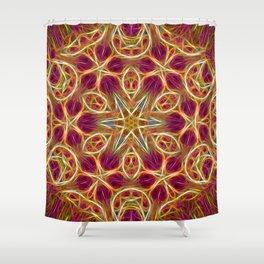 Frayed threads kaleidoscope Shower Curtain