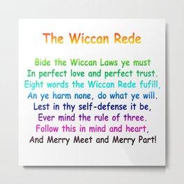 The Wiccan Rede Metal Print