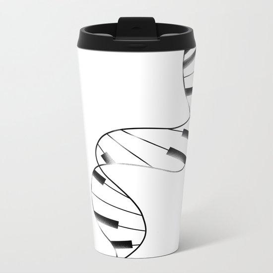 DNA Piano Metal Travel Mug
