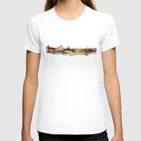 finland T-shirts featuring Helsinki city panorame, Finland by jbjart