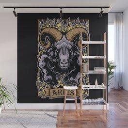 Aries Zodiac Sun Sign Ram Fire Astrology Wall Mural