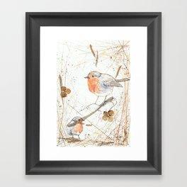 Kleine rote Vögelchen (Little red birdies) Framed Art Print