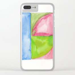 180818 Geometrical Watercolour 1| Colorful Abstract | Modern Watercolor Art Clear iPhone Case