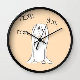 Nom, nom, nom Wall Clock