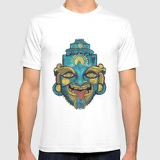 Morpho Mask White Mens Fitted Tee MEDIUM