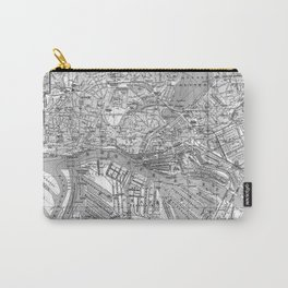 Vintage Map of Hamburg Germany (1910) 2 BW Carry-All Pouch