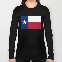 Texas state flag, High Quality Authentic Version Long Sleeve T-shirt