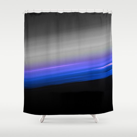 Blue Purple Grey Black Ombre Shower Curtain By