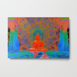 Cool Water Zen (Ultraviolet) (psychedelic, meditation) Metal Print