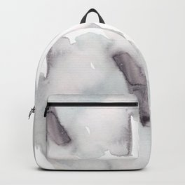 Winter Silent Elegance - Moody Abstract Watercolour Backpack