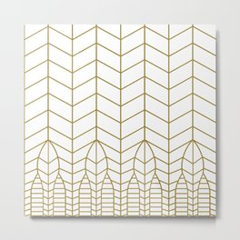 ART DECO IN WHITE Metal Print