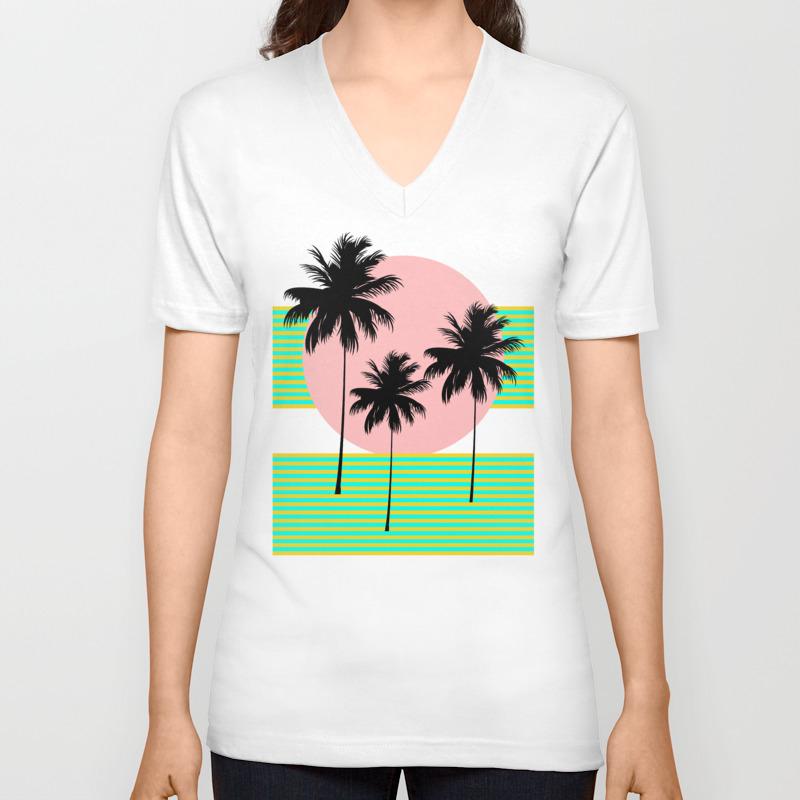 Hello California - Sunny Dreams Unisex V-Neck T-shirt by silverpegasus