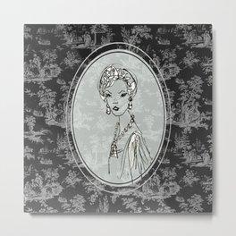 Belle de Jouy 2 Metal Print