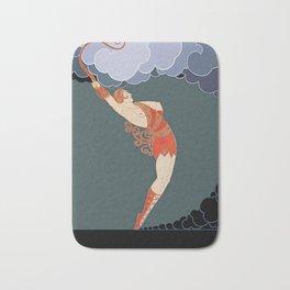 """Art Deco Illustration """"The Dancer"""" by Erté Bath Mat"""