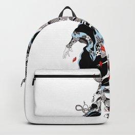 Basketball Fanart Japanese Geisha Illustration Popart Style Backpack