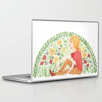enjolras Laptop & iPad Skins featuring The Law of Complementary Colours by foxflowers