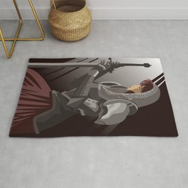 joan of arc lady warrior Rug