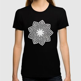 Black and white watercolor diamond pattern T-shirt