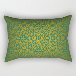 70's style Celtic Knotwork Rectangular Pillow