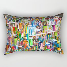 A lot dirty brushes in a bucket Rectangular Pillow