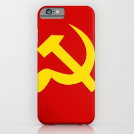 Soviet Union Hammer and Sickle Communist flag. iPhone Case