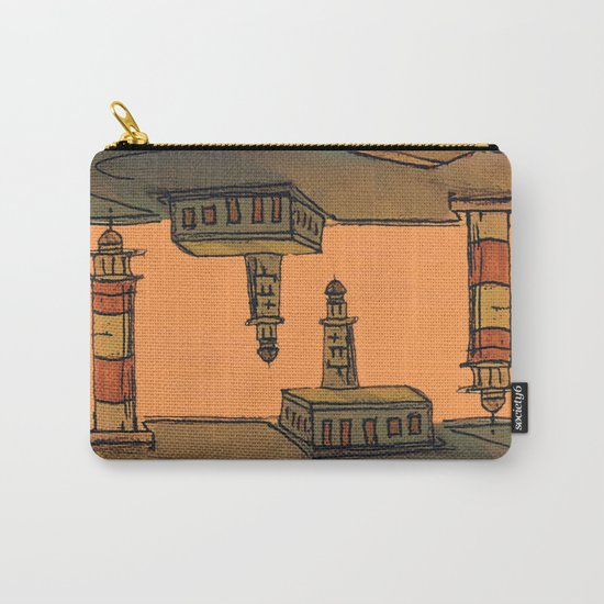 In Love with the Sea / Lighthouses Fuencaliente Carry-All Pouch
