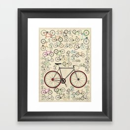 Love Fixie Road Bike Framed Art Print