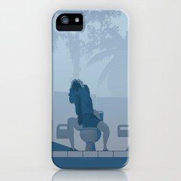 Jurassic Park poster - feat. Donald Gennaro iPhone Case