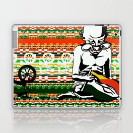 Ghandi and his Spinning Wheel Laptop & iPad Skin