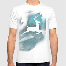 Over The Moon Mens Fitted Tee White MEDIUM